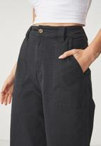 Cotton On - Wide leg pants - black