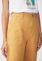 Cotton On - Wide leg pants -yellow
