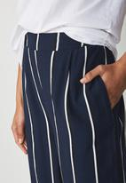 Cotton On - Wide leg pant - navy & white