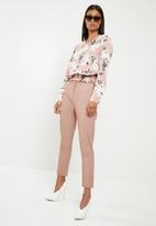 New Look - Marl naples slim leg trousers - pink
