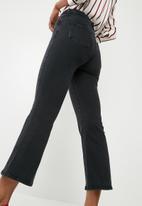 New Look - Hannah crop kick flare jeans - black