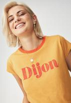 Cotton On - Tbar friends graphic tee - yellow