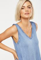 Cotton On - Laura detail tank - blue