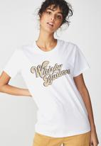 Cotton On - Tbar graphic T-shirt - white