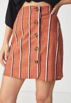 Cotton On - Woven mini military skirt - multi