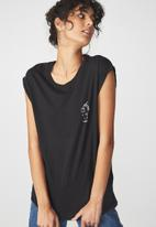 Cotton On - Drop shoulder T-shirt - black