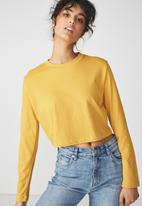 Cotton On - The urban long sleeve top - yellow