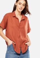 Cotton On - Cassie short sleeve shirt - orange