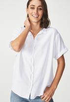 Cotton On - Cassie short sleeve shirt - white