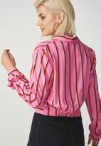 Cotton On - Twist front blouse - pink
