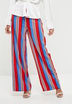 Missguided - Multi coloured striped wide leg trousers - multi