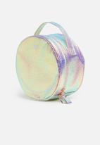 Typo - Round cosmetic case - iridescent