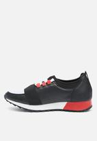 Missguided - Front strap lace up runner - black