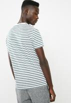 Superbalist - Stripe crew neck tee - white & green