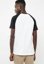 Superbalist - Short sleeve raglan crew neck tee - multi