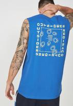 Cotton On - Tbar muscle tee - blue