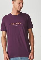 Cotton On - Tbar tee - purple