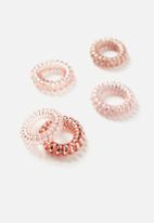 Cotton On - Kink free hair coils - rose gold