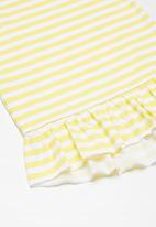 Superbalist - Kids girls dropped waist dress - yellow & white