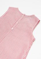 Superbalist - Bow shift dress - red & white