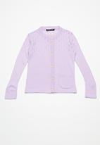 Superbalist - Rainbow button cardigan - lilac