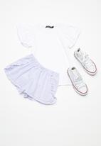 Superbalist - Kids girls ruffle sleeve top - white
