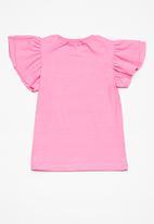Superbalist - Kids girls ruffle sleeve top - pink