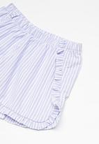 Superbalist - Frill detail shorts - lilac and white