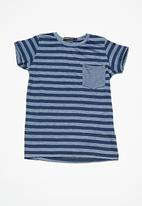 Superbalist - Kids boys striped crew neck tee - navy