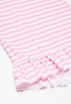 Superbalist - Kids girls dropped waist dress - pink & white