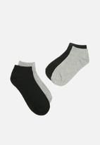 Superbalist - Low cut 2 pack socks - black & grey