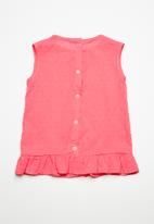 Superbalist - Cotton frill blouse - pink