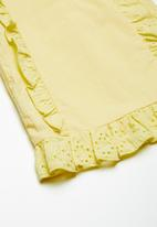 Superbalist - Cotton frill blouse - yellow