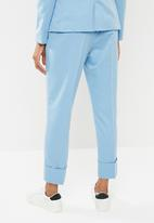 Superbalist - Suit trouser with turn up cuff - blue