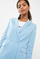 Superbalist - Double breasted suit jacket - blue