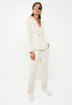 Superbalist - Linen blend suit blazer - beige & white