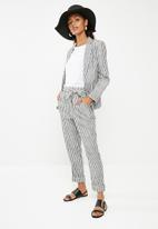 Superbalist - Linen blend suit blazer  - charcoal & white