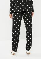 Superbalist - Spotted suit pant - black & white