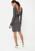 Superbalist - Cowl back bodycon dress - black & silver