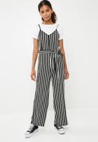 Superbalist - Culotte jumpsuit - black & white