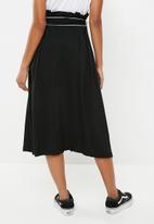 Superbalist - Paperbag A-line midi skirt - black