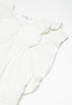 dailyfriday - Kids girls butterfly sleeve blouse - white