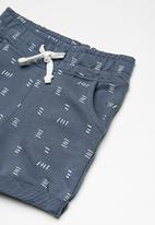 MINOTI - Kids boys fleece shorts - blue