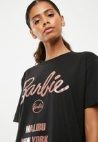 Missguided - Barbie cities T-shirt - black
