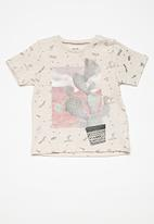 MINOTI - Kids boys marl AOP T-shirt - beige