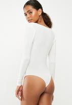 Missguided - Cowl neck bodysuit - white