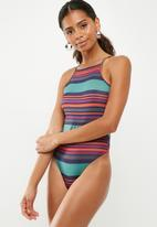 Missguided - Square neck striped bodysuit - multi