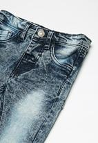 MINOTI - Kids boys acid wash denim jeans - blue