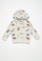 MINOTI - Kids boys hooded sweat top - grey