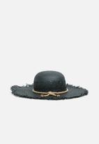 Superbalist - Straw sun hat - black